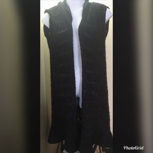 Forever 21 Sweaters - Forever 21 Crop Sleeve Open Front Cardigan Duster